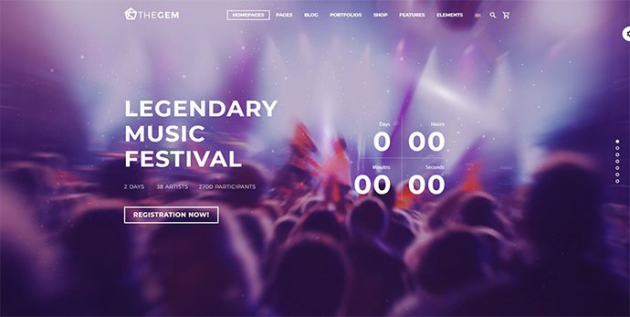 TheGem - 36+ Wonderful Gradients Designs WordPress Theme [year]