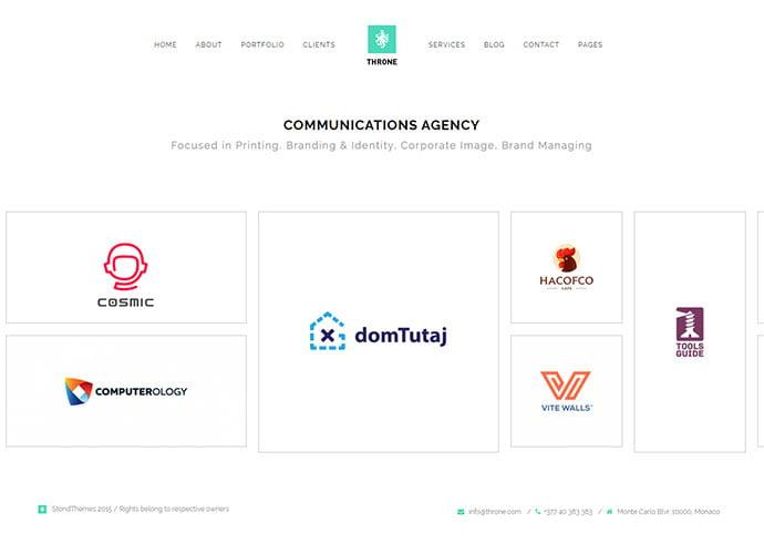 Throne - 41+ Awesome Logo Designer WordPress Themes [year]