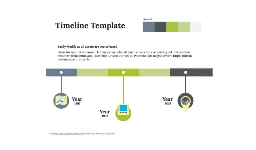 Timeline - 41+ Top Free Nice Apple Keynote Templates For You [year]