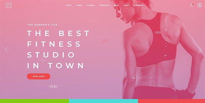 TopFit - 36+ Wonderful Gradients Designs WordPress Theme [year]