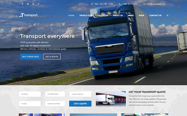 Transport-1 - 36+ Stunning WordPress Themes For Transportation [year]