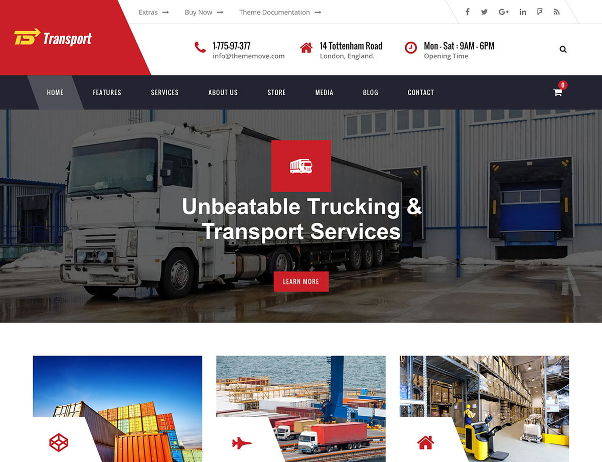 Transport - 36+ Stunning WordPress Themes For Transportation [year]