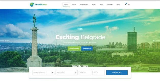Travelicious - 36+ Nice Tour & Travel Business WordPress Themes [year]