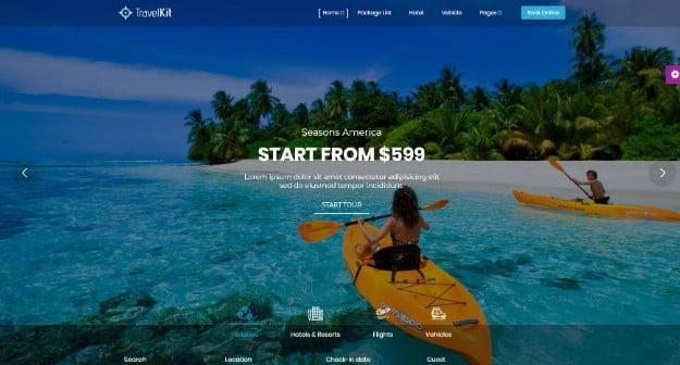 Travelkit - 36+ Nice Tour & Travel Business WordPress Themes [year]