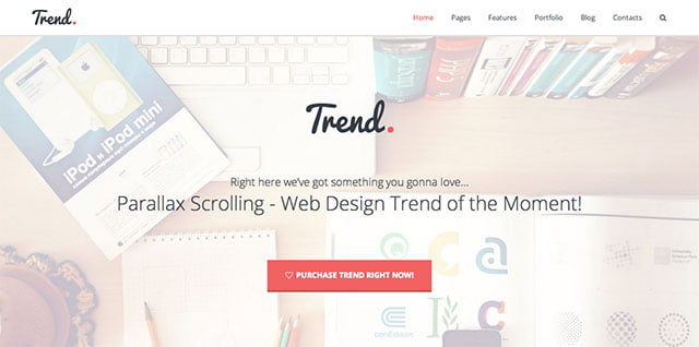 Trend - 31+ Top WordPress Themes For Drag and Drop [year]