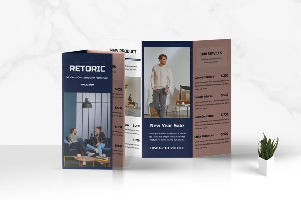 Trifold-Business-Brochure - 46+ Photographer, Artist & Designer Business Card Templates [year]