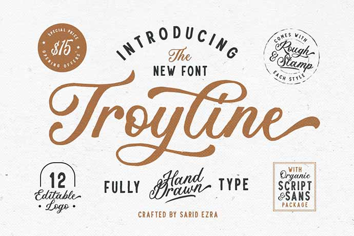 Troyline - 41+ Important Logo Design Fonts For Graphic Designer [year]