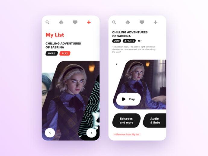 Tv-List-App - 63+ Amazing Film & TV App UI Design Sample [year]
