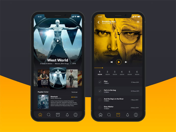 Tv-Series-App - 63+ Amazing Film & TV App UI Design Sample [year]