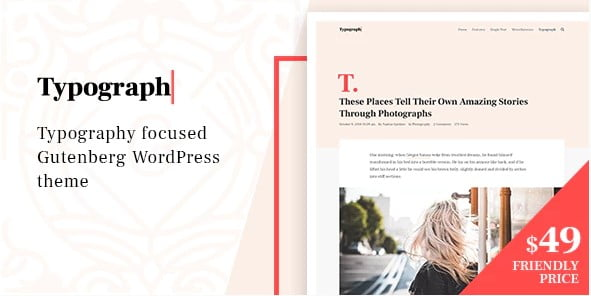 Typograph - 33+ WordPress Themes To Make Your Blog Attractive [year]