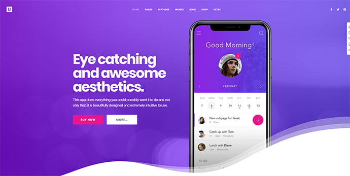 Uncode - 36+ Wonderful Gradients Designs WordPress Theme [year]