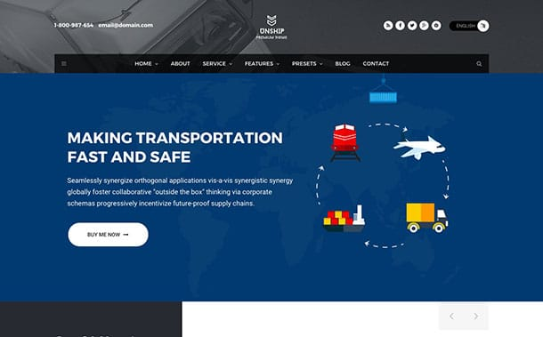 Unship - 36+ Stunning WordPress Themes For Transportation [year]