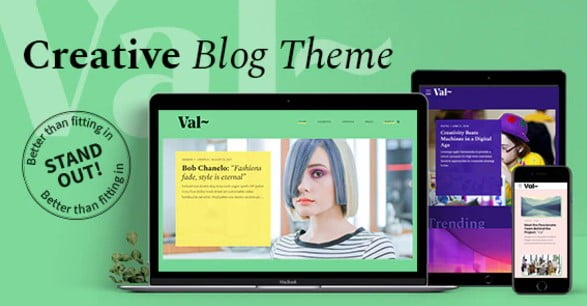 Val - 33+ WordPress Themes To Make Your Blog Attractive [year]