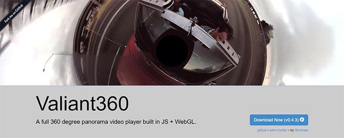 Valiant-360 - 26+ Amazing 360 Degree Image & Video Javascript Plugins [year]