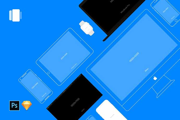 Vector-Mockups-Library - 51+ Amazing iOS and Android Phone PSD Mockup Templates [year]