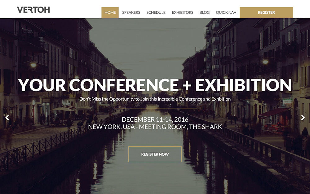 Vertoh - 41+ Top Awesome WordPress Themes For Events [year]
