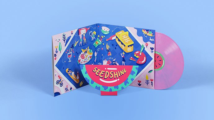 Vinyl-Moon - 38+ Awesome Free Packaging Designs that Automatically Sell [year]
