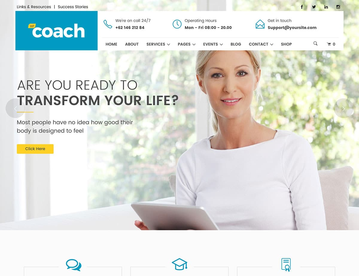 WP-Coach - 36+ Inspiring Best Coaching WordPress Themes [year]