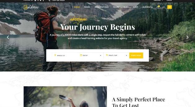 Wanderers - 36+ Nice Tour & Travel Business WordPress Themes [year]