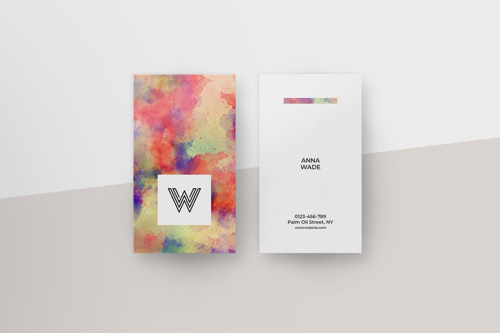 Watercolor-Business-Cards - 46+ Photographer, Artist & Designer Business Card Templates [year]