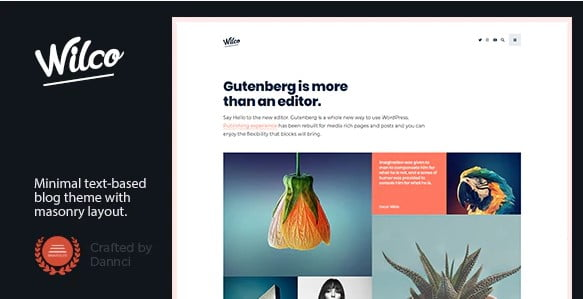 Wilco - 33+ WordPress Themes To Make Your Blog Attractive [year]