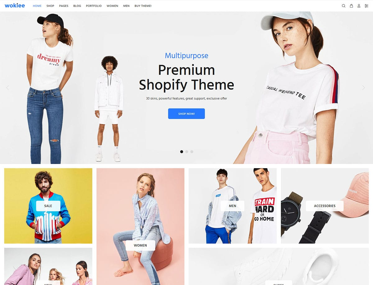 Wokiee - 41+ Awesome Shopify Themes For Your Business [year]