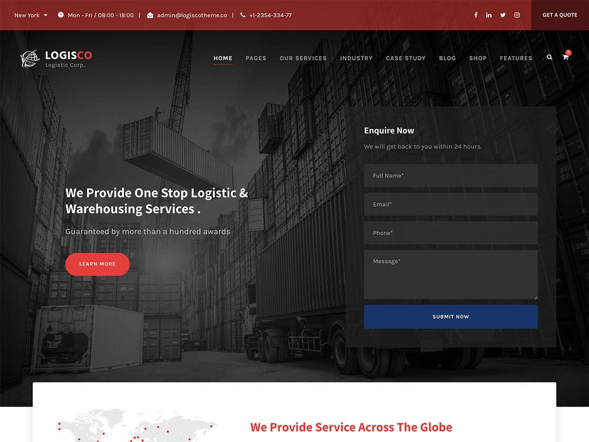 WordPress-Themes-For-Transportation - 36+ Stunning WordPress Themes For Transportation [year]