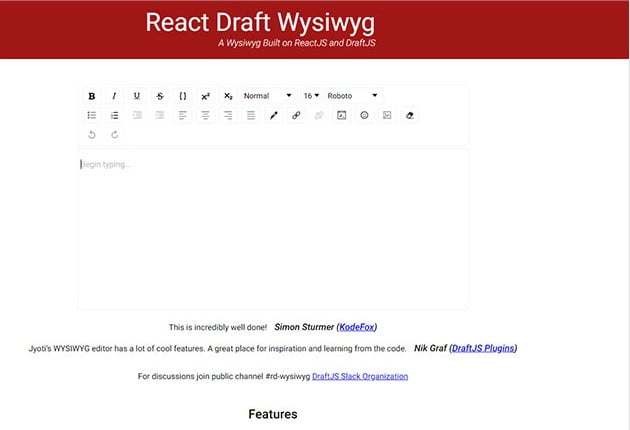 Wysiwyg - 61+ Free React UI Component Libraries [year]