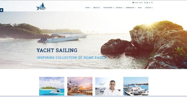 Yacht-Sailing - 36+ Nice Tour & Travel Business WordPress Themes [year]