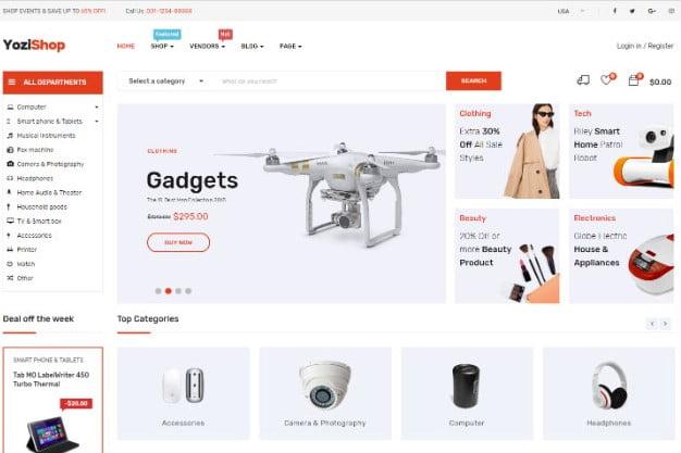 Yozi - 31+ Top Amazon Style WordPress Themes [year]
