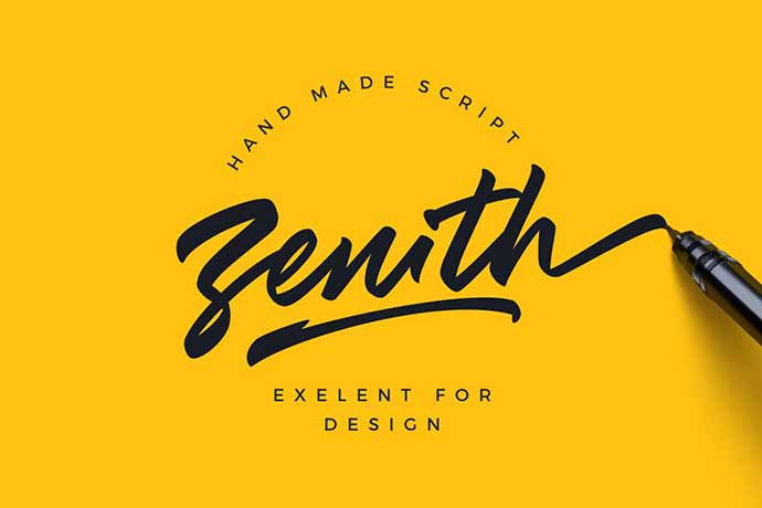 Zenith-Script - 41+ Important Logo Design Fonts For Graphic Designer [year]