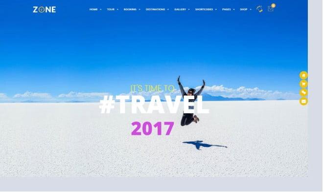 Zone - 36+ Nice Tour & Travel Business WordPress Themes [year]