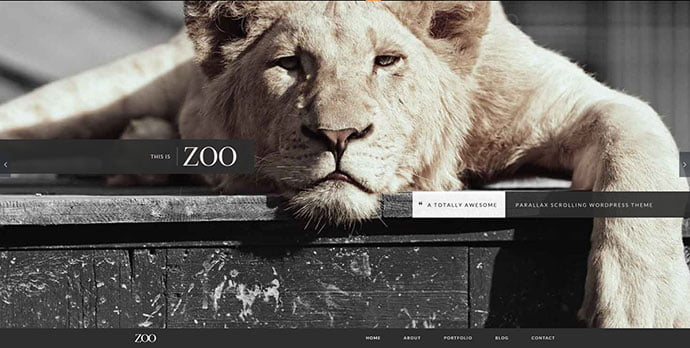 Zoo-One-Page-Parallax-Theme - 31+ Unique Parallax Experience WordPress Themes For Developer [year]