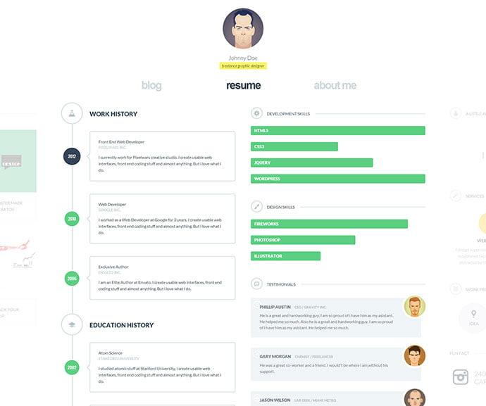 cvCard-WP - 34+ Marvelous WordPress Resume Themes [year]