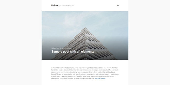 hinimal - 31+ Awesome WordPress Themes For Swiss-inspired [year]