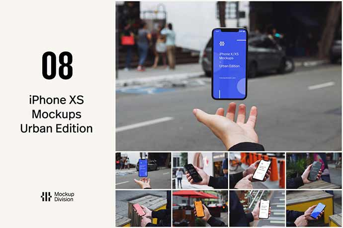 iPhone-XXS-Mockups-Urban-Edition - 51+ Amazing iOS and Android Phone PSD Mockup Templates [year]