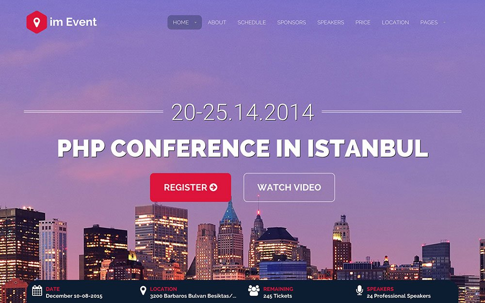 im-Event - 41+ Top Awesome WordPress Themes For Events [year]