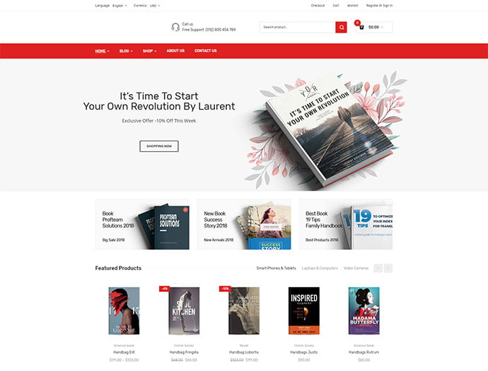 111-1 - 31+ Nice Librarian & Bookseller WordPress Themes [year]