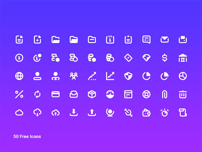 50-Free-Business-Icon-Pack - 35+ Awesome Free E-Commerce Icon Sets [year]