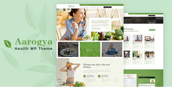 Aarogya - 36+ Nice WordPress Themes For Coaching [year]