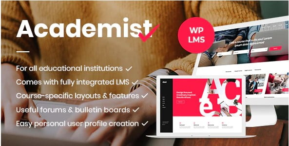 Academist - 36+ Awesome WordPress Themes e-Learning [year]