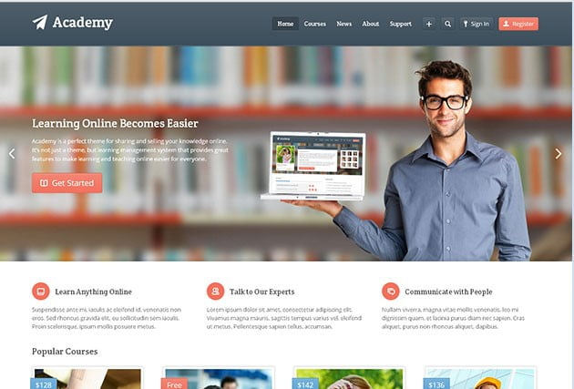 Academy - 36+ Awesome WordPress Themes e-Learning [year]