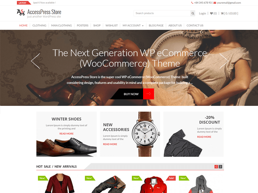 AccessPress-Store - 51+ Awesome Free WordPress Themes For Ecommerce [year]