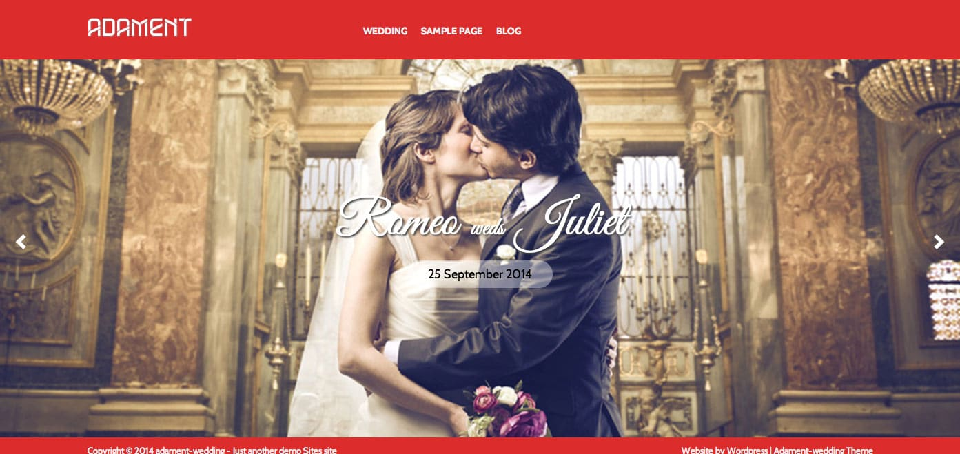 Adament-wedlock - 36+ Elegant Free WordPress Wedding Themes [year]