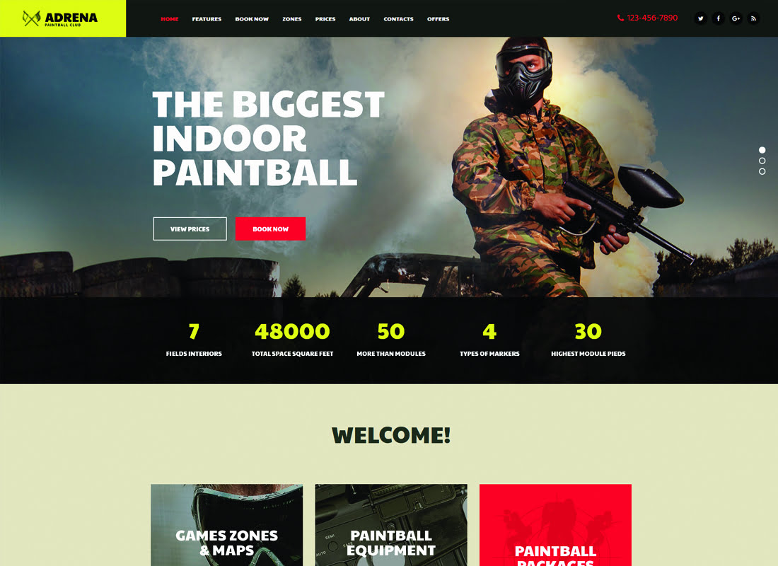 Adrena - 35+ Nice Hunting and Weapon For WordPress Themes [year]