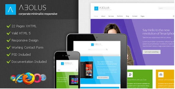 Aeolus - 36+ Awesome Minimalist WordPress Themes [year]