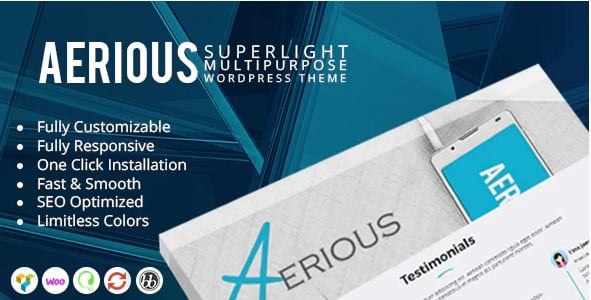 Aerious - 36+ Responsive WordPress SEO Friendly Themes [year]