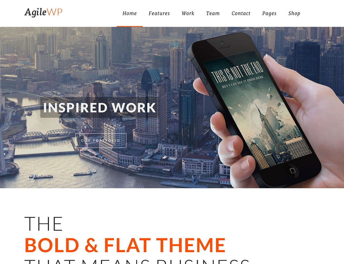 Agile - 40+ Amazing WordPress App Showcase Themes [year]