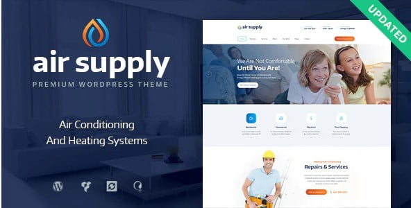 Air-Supply - 36+ Awesome Plumbers WordPress Themes [year]