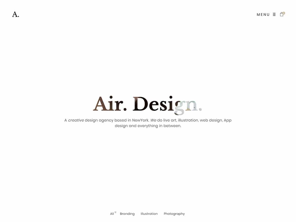 Air - 31+ Amazing WordPress Themes For Creative [year]